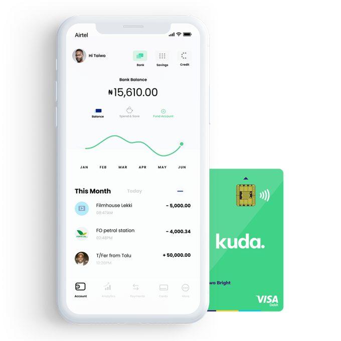 Kuda Transaction Screen - An Online Bank in Nigeria, Kuda Raises $1.6M